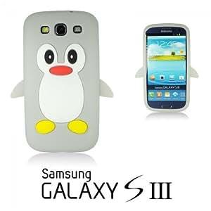 OnlineBestDigital - Penguin Style Soft Silicone Case for Samsung Galaxy S3 III I9300 - Grey