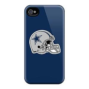 Unique Design Iphone 4/4s Durable Tpu Case Cover Dallas Cowboys