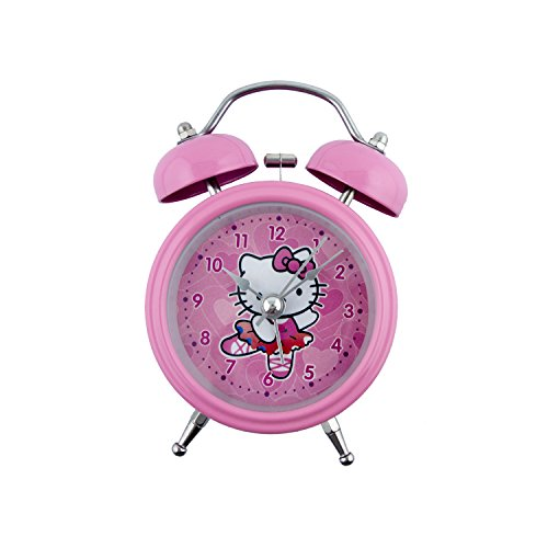 HAND Hello Kitty 'Ballerina' Colourful Twin Bell Metal Alarm Clock with Light 5''x3'' Pink by HAND