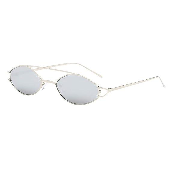 ☀ Gafas de sol Ovaladas Pequeñas Retro Unisex, Barato Gafas ...