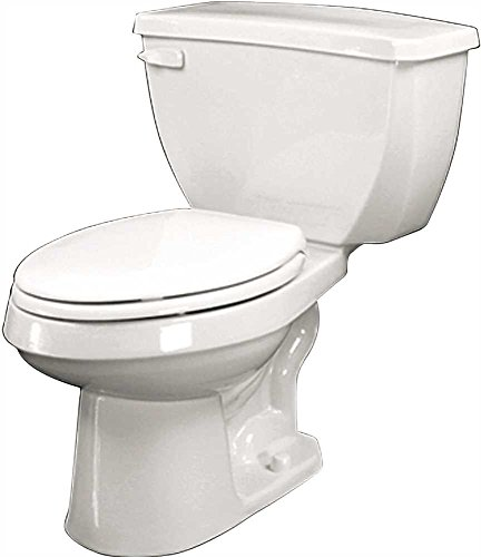 Elongated Toilet Gerber Bowl (GERBER PLUMBING G002192825 2473732 Maxwell Siphon Jet Toilet Bowl, Elongated Ada, 1.6 Gpf/1.28 Gpf, Bone)