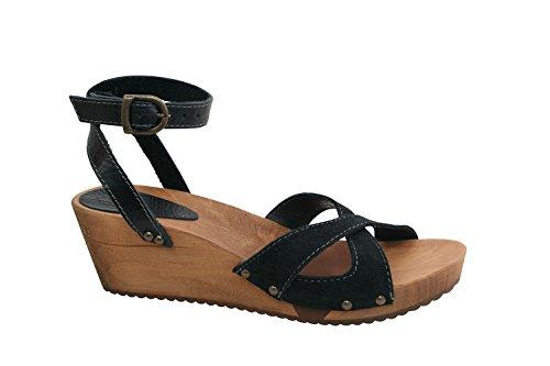 Sanita Thalia Wedge Flex Sandal Vintage Clog Black