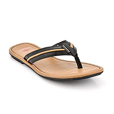 17851c526181 Lee Cooper Men s Black Leather Hawaii Thong Sandals-10 UK India (44 EU