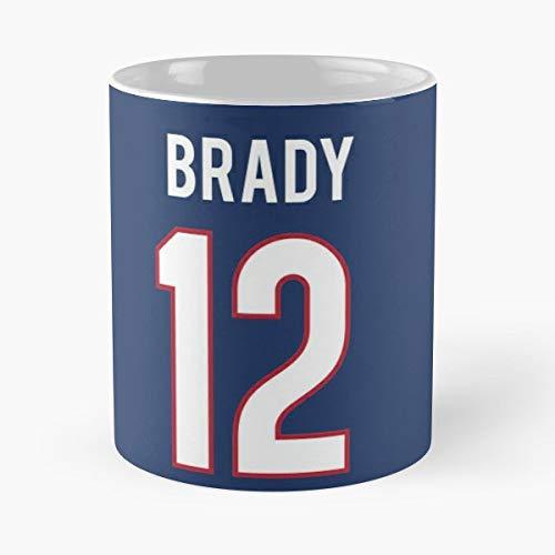 official photos 21f3b b9050 Amazon.com: Mens New England Patriots Tom Brady 12 Blue Game ...