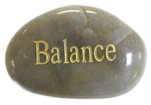 Inspirational Message Stones Engraved with Uplifting Words of Wisdom - Balance