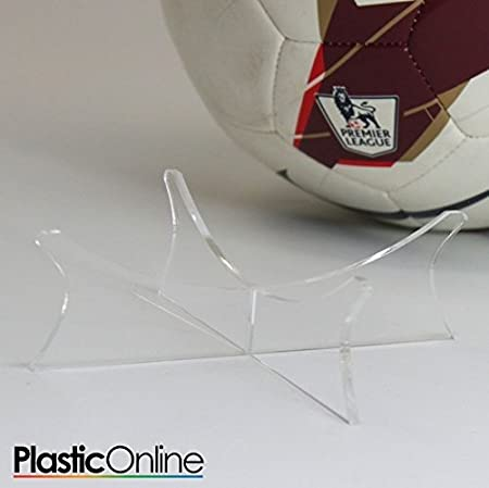 Acrylic Football Display Stand Perspex Riser Plinth Amazoncouk Awesome Football Display Stand Plastic