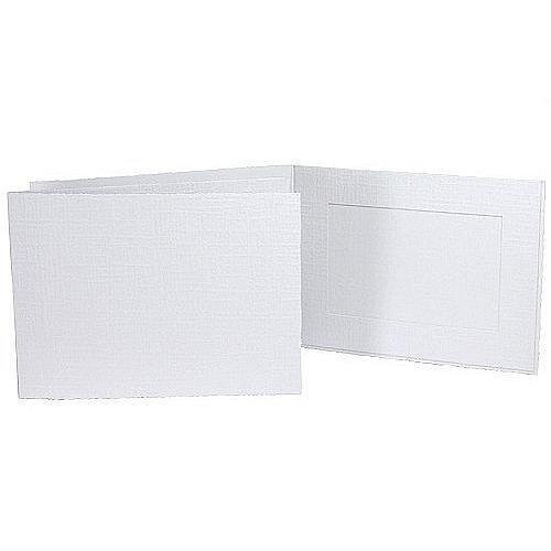 White Portrait Folder: Plain Border for 4