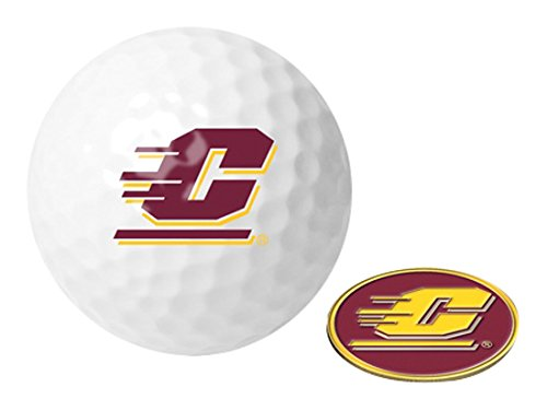 Michigan Golf Ball (NCAA Central Michigan Chippewas - Golf Ball One Pack with Marker)