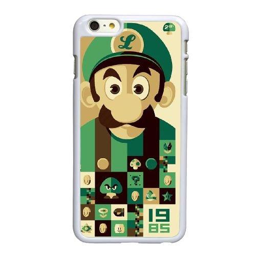 F2P88 Super Mario Bros O7G2TE coque iPhone 6 Plus de 5,5 pouces cas de couverture de téléphone portable coque blanche XC9PKH8SR