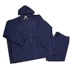 MidWest 1000-2X-00 PVC Rainsuit, 2-Piece, Navy Blue