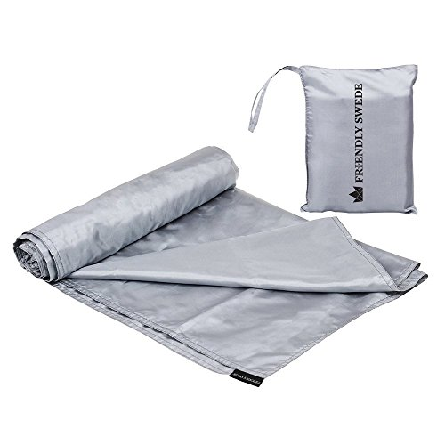 Dry Bag Liner (The Friendly Swede Extra Spacious Travel and Camping Sheet Sleeping Bag Liner (Silver))