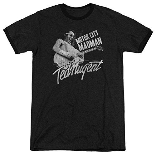 A&E Designs Ted Nugent Motor City Madman Ringer Shirt, Black, XL]()
