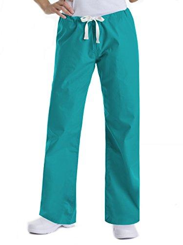 Urbane Scrubs Drawstring Bootcut pants,teal, xsmall