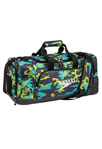 Speedo Teamster Duffle Bag, Multi Green Camo/Black, 38L