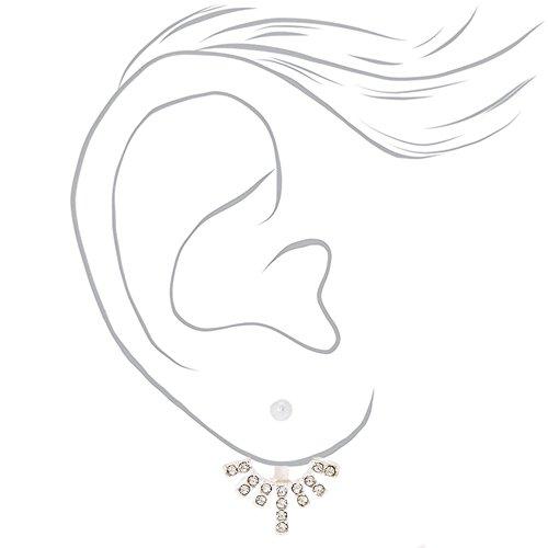 Simulated Sunburst Earrings Crystal Ear Claire's Femmes Jacket CqU566