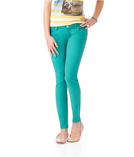 Aeropostale Womens Lola Neon Jegging Skinny Fit Jeans 164 11/12x32 - Juniors