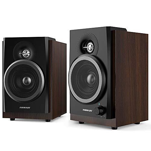 INSMART Computer Speakers Wooden...