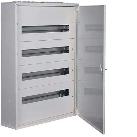 Hager FW524WT Caja de distribución superficie metálica clase I 5x12 módulos: Amazon.es: Industria, empresas y ciencia