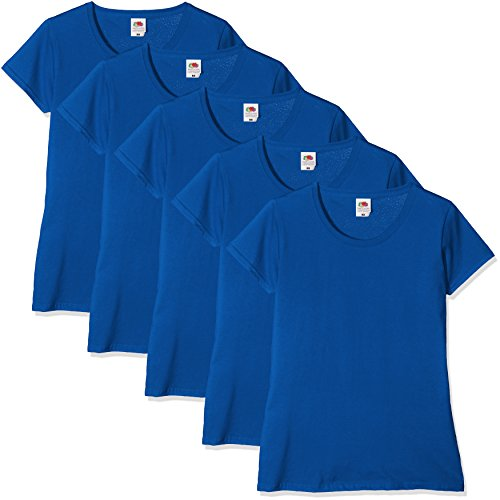 T Pack 51 Blu of Valueweight Fruit Shirt the Loom 5 Donna Royal Blue nX7nYzx
