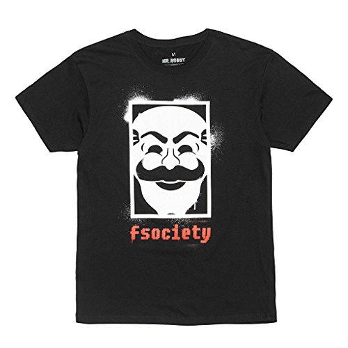 Loot Crate Mr. Robot Fsociety Men's Black T-Shirt Dec 2016 Revolution Exclusive (2XL) ()
