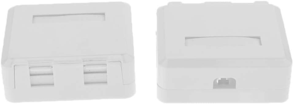 D DOLITY Caja de Montaje Superficie de Gato Cat6 Complimentos Placa de Pared Cable RJ45: Amazon.es: Electrónica