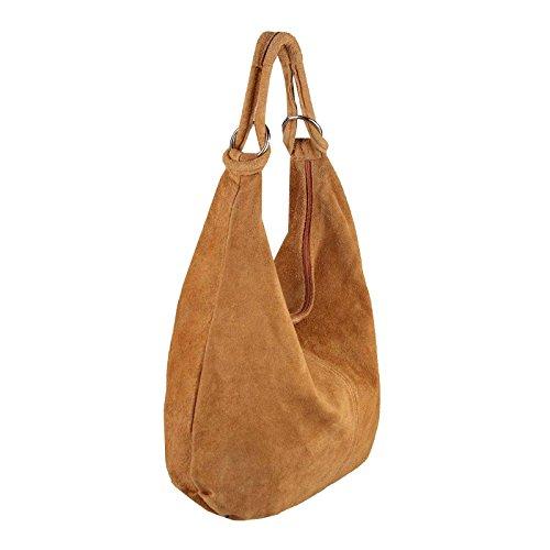 OBC Only-Beautiful-Couture, Borsa a spalla donna Rosa Altrosa (Leder - 47x35x16 Cm) xxl Cognac