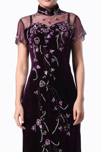 105 Hochzeitskleid Kostenlos Samt Langes Aus Abendkleid Edles Qipao Cheongsam Und Auftragsfertigen Deluxe Tzw8xqptPW