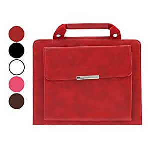 Briefcase Design Folio Stand Leather Case for iPad 2/3/4 (60/45/30 Degree Slope,Optional Colors) , Rose