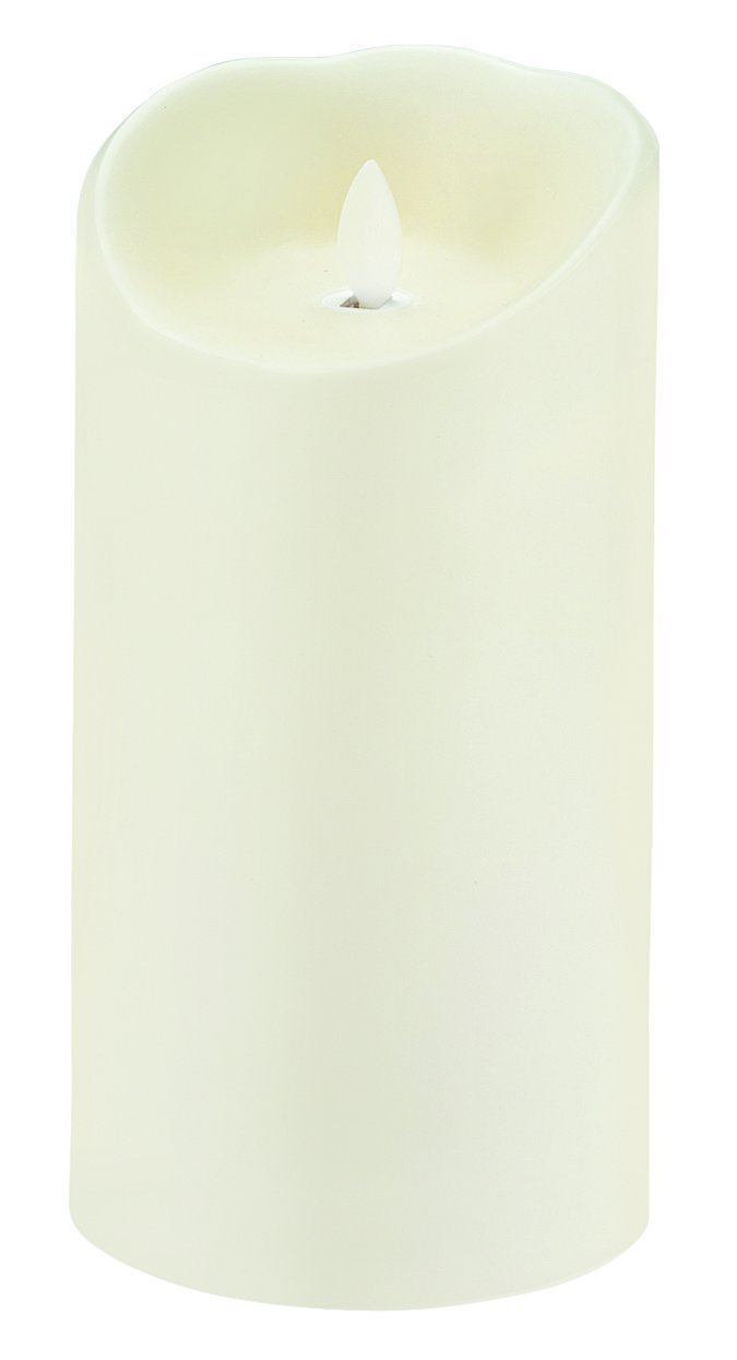 Sterno Products 60152 Mirage 7.5'' Cream Programmable Flameless Flickering LED Candle - 6-Pack