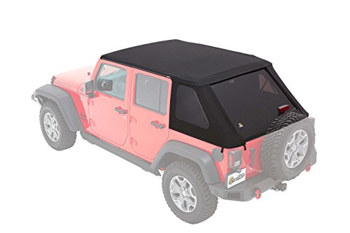 Bestop 56853-35 Black Diamond Trektop NX Plus for 2007-2018 Jeep Wrangler JK Unlimited 4-Door