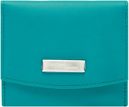 Small Trifold Wallets For Women RFID Blocking - Genuine Leather Credit Card Holder with Coin Purse - Leather Tri Fold Handbag
