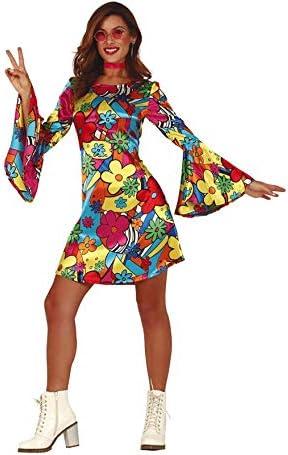 Guirca Disfraz de Hippie Floreada para Mujer: Amazon.es: Juguetes ...