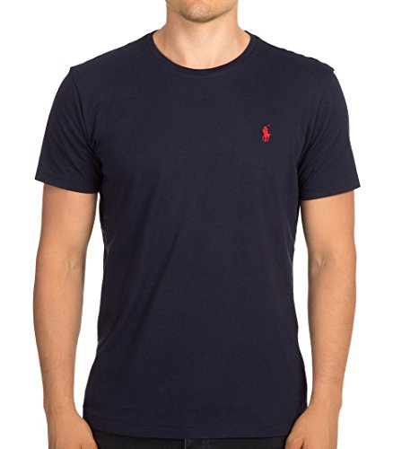 Polo Ralph Lauren Mens Crew-neck T-shirt (XX-Large, Ink) Polo Neck T-shirts