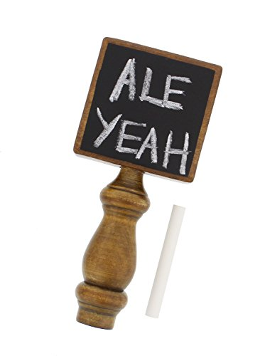 Chalkboard Beer Tap Handle with Chalk for Kegerator, Home Bar, Homebrew - for All Beer-Lovers in Square Style