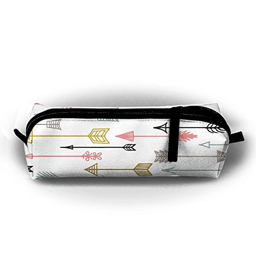 Durable Zipper Stationery Bag Ethnic Arrows Big Capacity Pencil Case ()