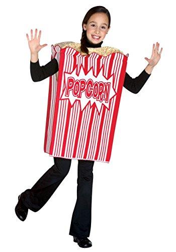 Rasta Imposta Movie Night Popcorn Children's Costume, 7-10, Red (Popcorn Costume Baby)
