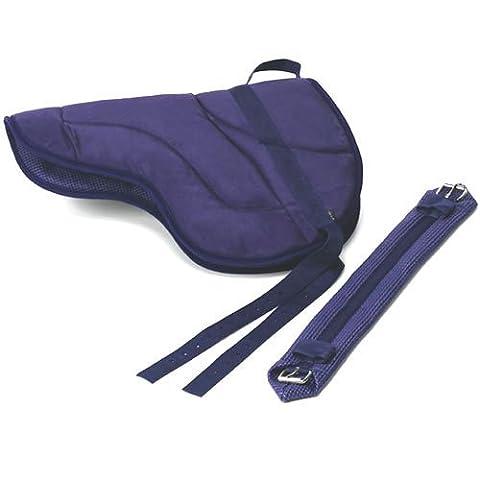 Best Friend Eastern Style Bareback Saddle Pad, Navy, Size: Adult by Best Friend