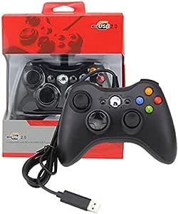 Controle Usb Com Fio Xbox 360 Para Computador PC Notebook Preto