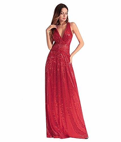 8ebcc8f015d7 Sexy L abito Sera Damigelle Da Sjmmqz Vestito Bellissimo Rosso Con tqnRRw0H