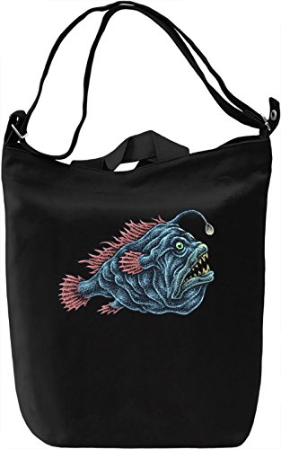 Anglers Briefcase Bag (Anglerfish Canvas Day Bag| 100% Premium Cotton Canvas| DTG Printing| Unique Handbags, Briefcases, Sacks & Custom Fashion Accessories For Men & Women)