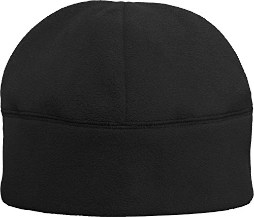 Solid Polar Fleece Winter Cold Weather Beanie Watch Cap Hat, Color Black -
