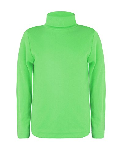 Elegance123 Elegance Kids Girls Boys Cotton Polo Turtleneck Roll Neck Tops (3216) (Lime Green, 7-8 ()
