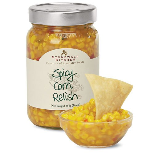 Stonewall Kitchen Spicy Corn Relish, 16-Ounce Bottle (Pack of 3)