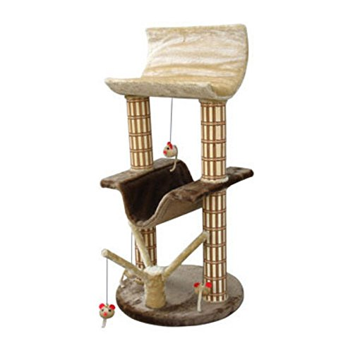 Penn Plax Two Story Cat Perch and Play Tree with Mouse Toys ()