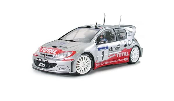 Amazon.com: #24255 Tamiya Peugeot 206 WRC Version 2002 1/24 Plastic Model Kit,Needs Assembly: Toys & Games
