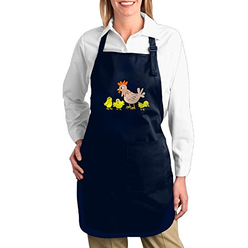 Dogquxio Chicken Moms And Chicks Kitchen Helper Professional Bib Apron With 2 Pockets For Women Men Adults Navy by Dogquxio