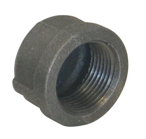 Ez-Flo 78261 Black Malleable Cap 1//2