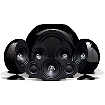 kef home speakers. kef kht3005bl (se) 5.1 home theater speaker system (gloss black) (discontinued kef speakers