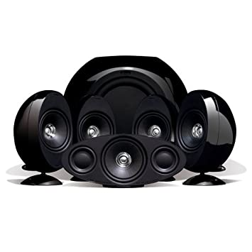 kef 5 1 surround sound speakers. kef kht3005bl (se) 5.1 home theater speaker system (gloss black) (discontinued kef 5 1 surround sound speakers