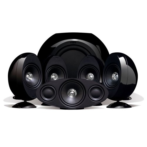 KEF KHT3005BL (SE) 5.1 Home Theater Speaker System (Gloss Black) (Discontinued by Manufacturer) by KEF